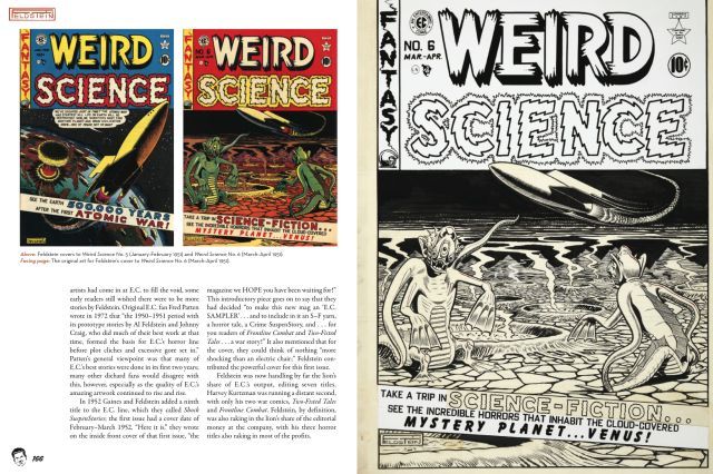 Sample pages with Weird Science covers